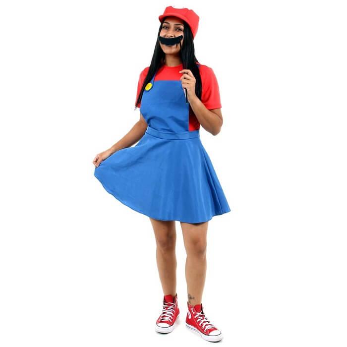 Fantasia feminina Mario Bros