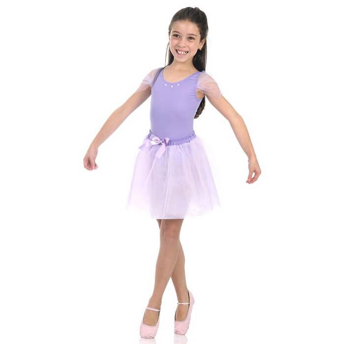 Fantasia infantil de bailarina lilás