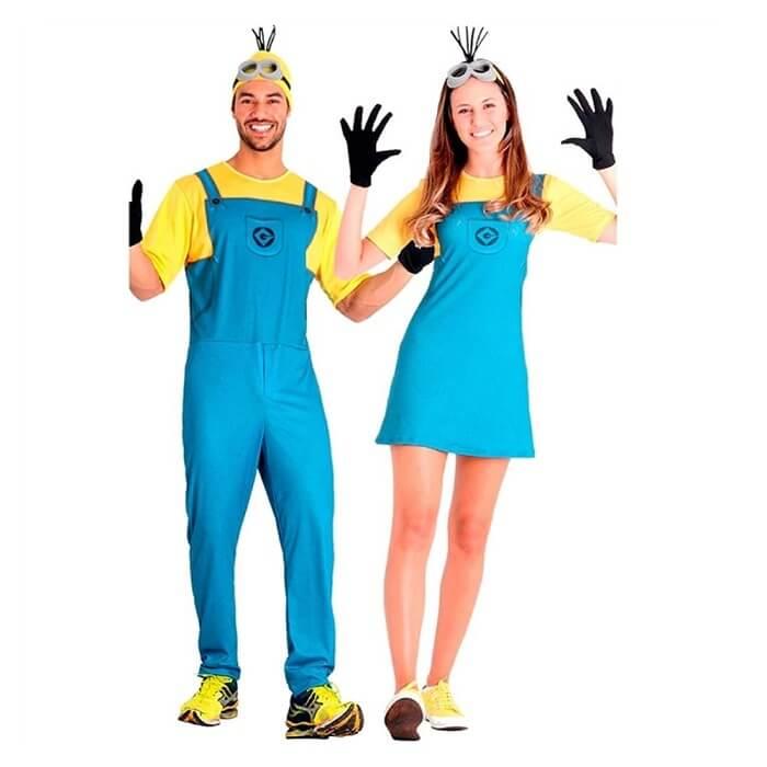 Fantasia de casal para carnaval inspirada no traje dos Minions